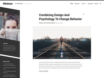 Minimer WordPress Theme blog wordpress responsive free