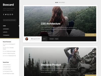Boxcard WordPress Theme blog magazine wordpress responsive free