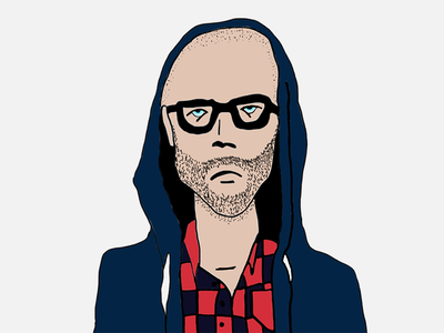 Todd the Hipster hipster illustration portrait character