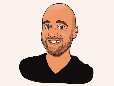 Self portrait illustration sketch drawing