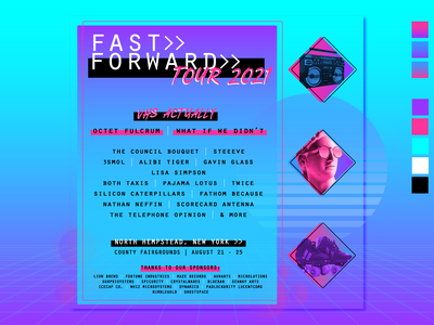 Festival Flyer Mockup synthwave vaporwave flyer musicfestival mockup retro vector typography design illustration