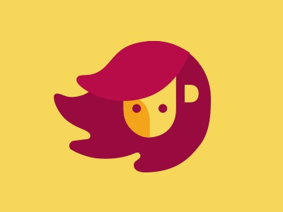 Angelato logo icon feline animal minimalist lion logo