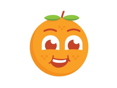Another Cute Orange smile logo vector illustration fruit orange