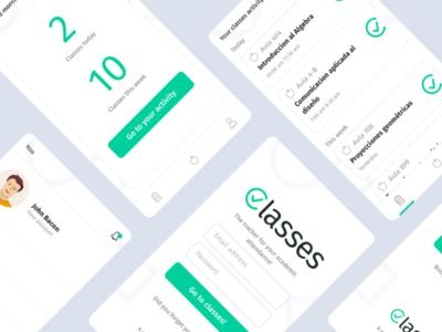 Design Concept - Classes class light interface app mobile screens