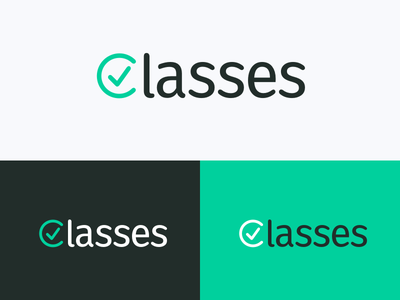 Classes palette green isotype class icon branding logo