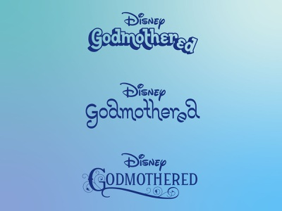 Disney's Godmothered: Unchosen Movie Title Treatments lettering typography logo design disney branding agency movie logo custom lettering custom type type type design branding logo hoodzpah