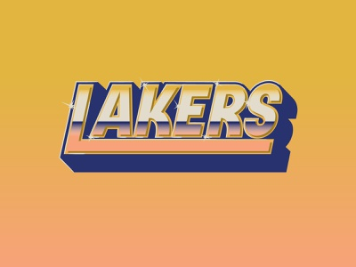 Lakers 60th Anniversary Poster lettering type design custom lettering custom type los angeles los angeles lakers lakers nba typography hoodzpah