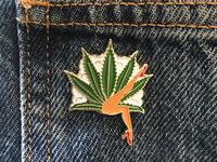 Lady Leaf Enamel Pin