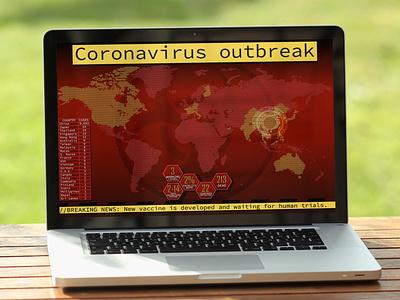 Coronavirus outbreak UI lettering illustrator website minimal web app ux vector design illustration