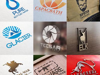 9 Logos icon typography branding web vector minimal lettering illustrator illustration design logo