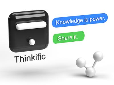 Knowledge is power. Share it. ux branding ui vector minimal logo lettering illustrator design illustration