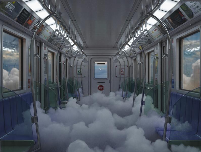 Dreamy dreamscape dreams clouds surrealism surreal photoshop octanerender octane illustration design cinema4d c4d 3d artist 3d art 3d