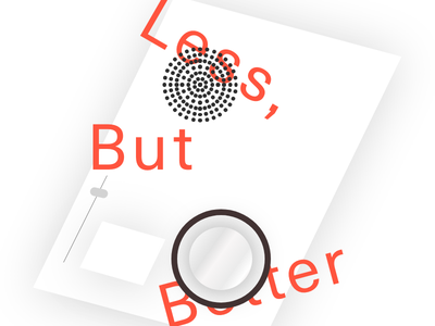 Less But Better vector typography experiment