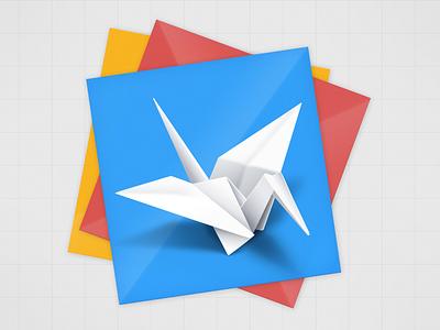 Origami Logo origami crane 3d interactive design quartz composer