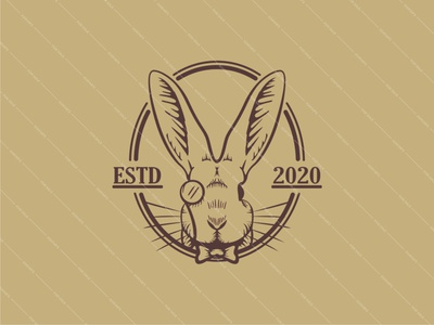 GENTLE RABBIT vector icon branding design logo gentleman gentle animal logos animal logo animal rabbits hare rabbit logo rabbit