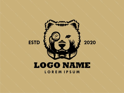 Gentle Bear animal logo animal vector nature gentlemen gentleman gentle bear bear logo logodesign logo design logo branding design brand identity brand design branding brand