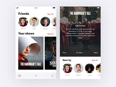 👀   Binge shows series tv episodes ios concept app binge