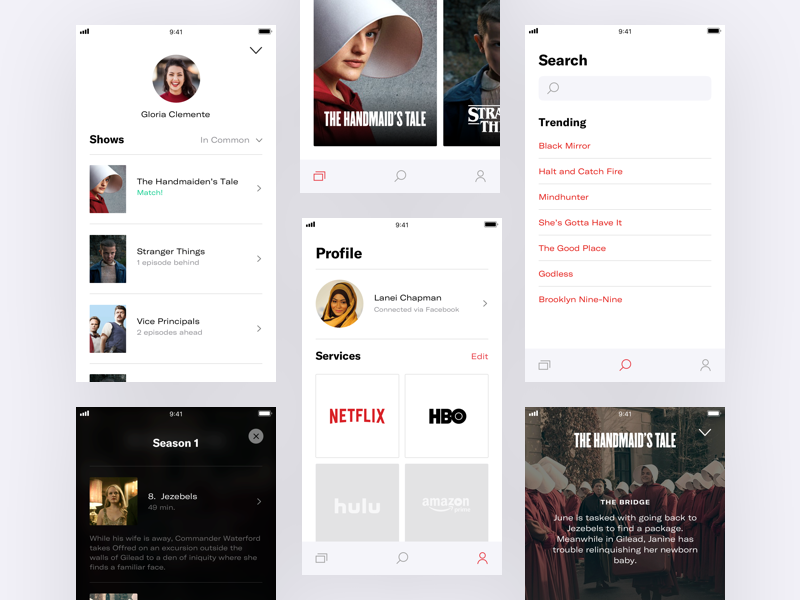 👀  Binge — Screens tv shows series ios episodes concept binge app
