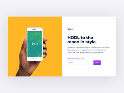 💰 Coin moon hodl gifs portfolio app crypto cryptocurrency
