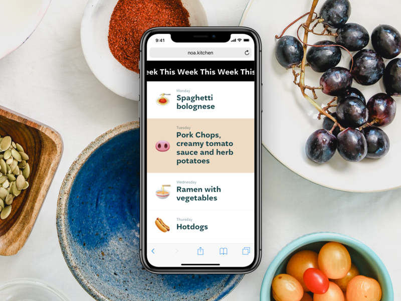 👨🍳 NoA Kitchen noa mobile emoji menu lunch
