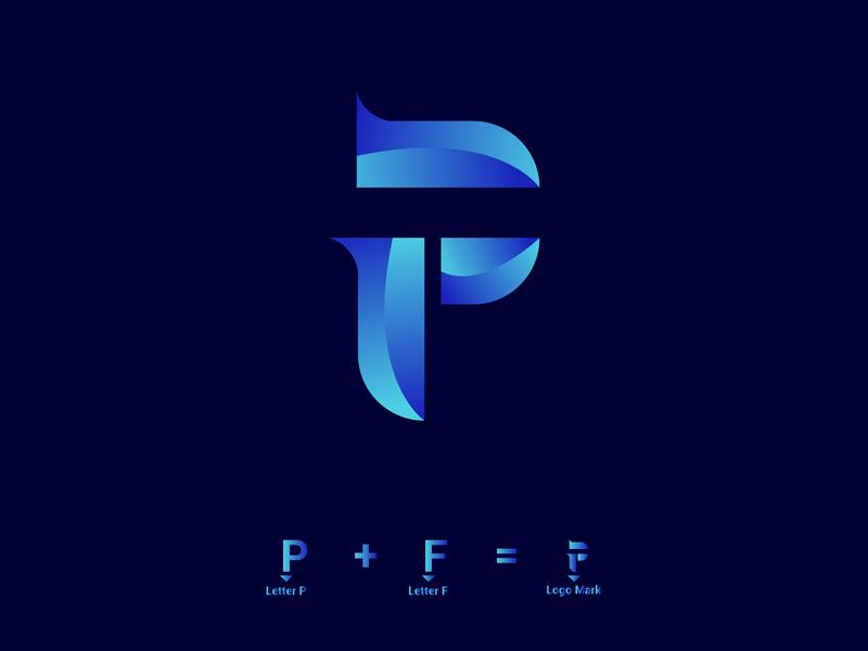 P + F leter logo identity identity branding ideas identity design logo mark typography lettering icon illustrator illustration logo logo design design branding animation abstract