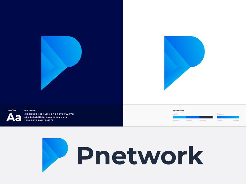Pnetwork Branding Logo logomark logotype logodesign logos p letter logo brand identity minimal lettering icon illustrator illustration logo design logo design creative branding abstract 3d
