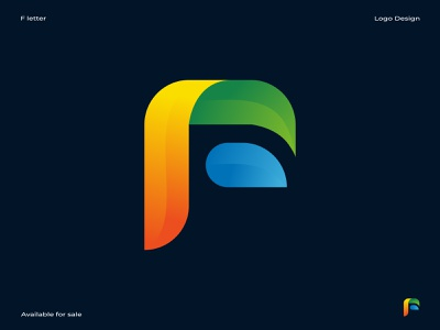 F letter logo f logo brand design brand identity 2d 3d abstract typography minimal lettering illustrator icon illustration logo design branding logo design