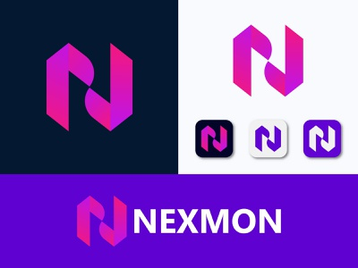 Modern N logo design typography logodesign logotype logos brand identity branding design 2d modern logo design modern 3d modeling minimal vector lettering illustrator icon illustration logo design branding logo design