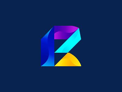 R Branding logo typography 2d app design abstract 3d r letter logo r logo design minimal vector lettering illustrator icon illustration logo design branding logo design