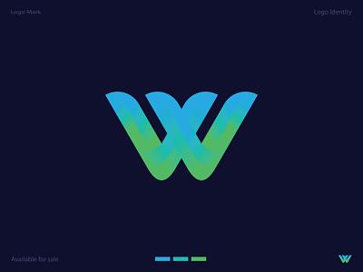 W letter logo lettermark icon design logo identity logo mark logotype w letter logo modern logo 3d 2d minimal vector lettering illustrator icon illustration logo design branding logo design