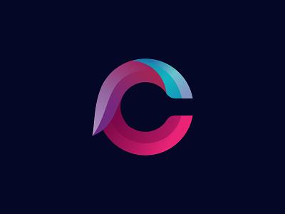 C letter logo typography gradient graphic design 3d minimal creative simple nopqrstuvwxyz abcdefghigklm c letter c logo lettermark modern design branding illustrator illustration logo logo design icon