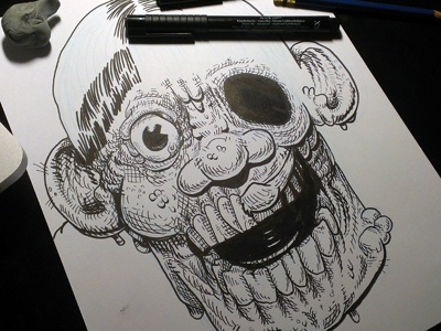 Brute monster zombie skull melt