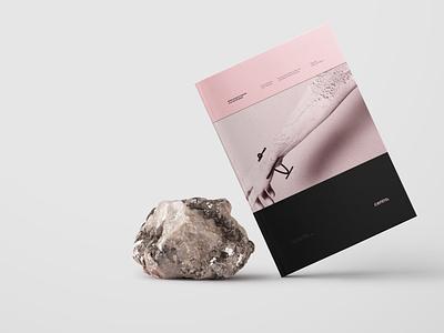 Tesis: Diseño de Joyería black pink jewelry industrial editorial design book