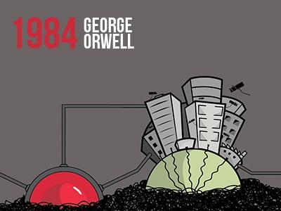 1984 1984 george orwell book dystopia cover poster story