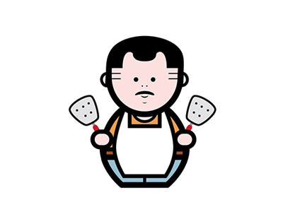 Mexican Cook cook chef mexican food icon white outline