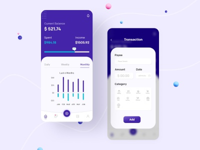 Money Tracking App - Budget Tracking money management expense tracker expense budget app budget money minimal interface ios app ewallet finance app finance app design ui design mobile app design design app ux design ux ui