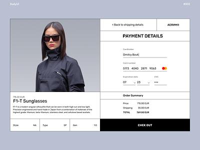 Credit Card Checkout dailyuichallenge daily ui checkout fashion acronym payment page payment clean design clean ui visual design ux design uiux ui design typography design ui web ux minimal