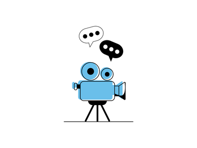 Video camera video consulting doutone illustration doutone clean design flat illustration video camera illustrator art illustrator cc vector illustration icon vector illustration visual design design minimal