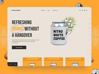 Soft Drinks Landing Page drink soft ux ui  ux webdesign designer branding ui design