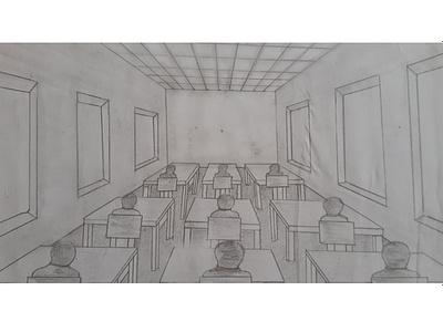 Classroom sketching day1 dailywarmup design fun illustration pencil drawing pencil sketch pencil art