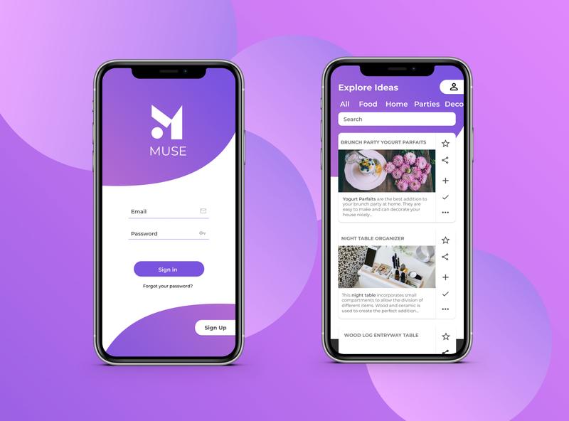 Muse Modern App Design