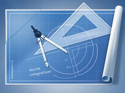 Blueprint Icon shippingeasy blueprint scroll integration saturized icon graphic