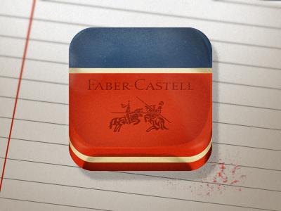 Faber-Castell Eraser ios design icon iphone