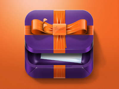 Wrappit iOS Icon ios design icon iphone iphone icon wrappit gift new year christmass xmass present