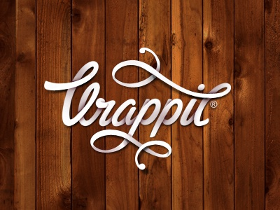 Wrappit logotype wrappit logo logotype design app ios graphic design lettering typography type swoosh ribbon paper wood