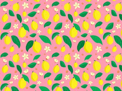 pattern lemons lemons pattern illustration