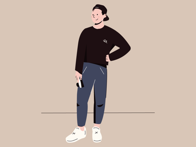 Photographer vector camera boy illustration