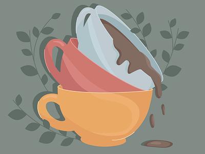 Hot chocolate hot chocolate cocoa cups adobe illustration illustrator illustration