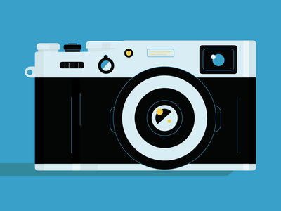 camera design logo vector cute adobe illustration illustrator illustration camera fujifilm photo view blue photocamera