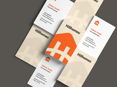 Hillhomes business cards! logo mark icon symbol print stationary business card graphic design logo design logo real estate identity design brand identity branding